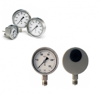 Đồng hồ đo áp suất Inox mặt 100mm