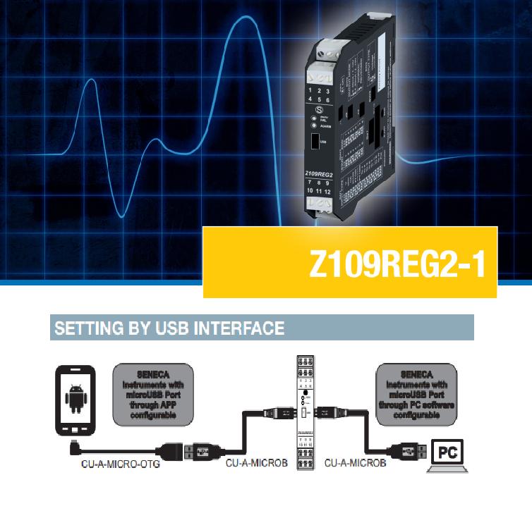 Bộ cách ly tín hiệu chuẩn caoSeneca Z109REG2-1