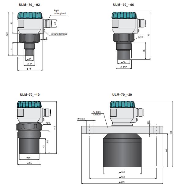 Thông số sensor siêu âm đo mức chất lỏng