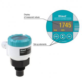 Cảm biến siêu âm đo mức có hiển thị Dinel ULM-70