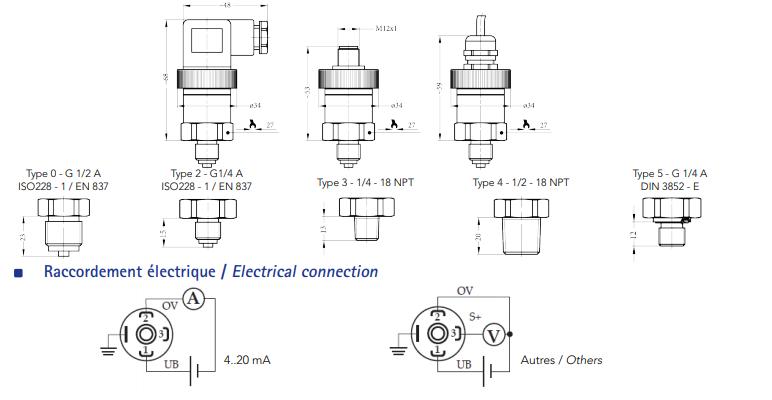 Thông số Cảm biến đo áp suất giá rẻ SR1