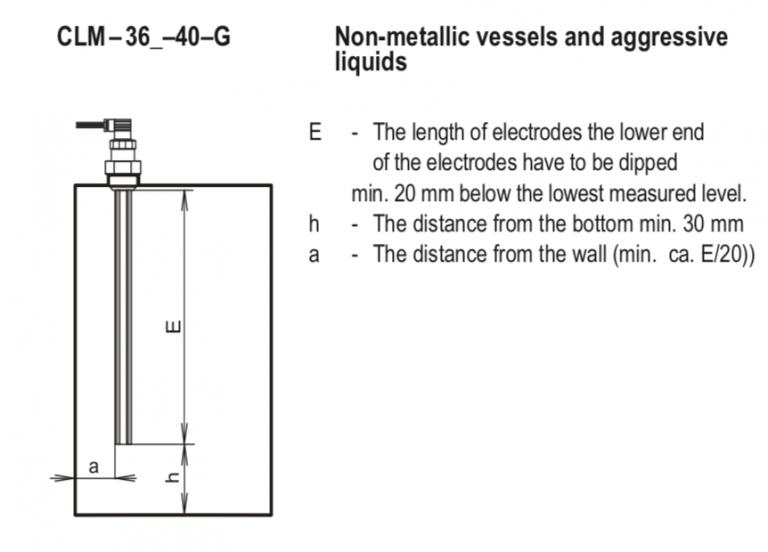 Cách lắp đặt cảm biến đo mức axit CLM-36N-40