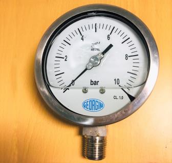 Đồng hồ áp suất chân đứng mặt 100mm Georgin-Pháp