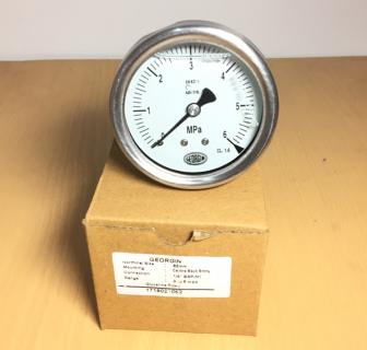 Đồng hồ đo áp suất mặt 63mm chân đứng Georgin-Pháp