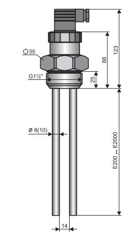 Thông số cảm biến đo mức axit CLM-36N-40