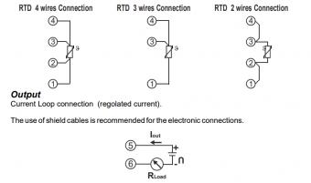 cách đấu dây bộ chuyển đổi tín hiệu nhiệt độ