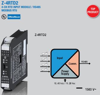Bộ chuyển đổi Pt100 ra Modbus RTU 4 kênh