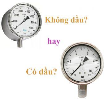 Vì sao nên dùng đồng hồ áp suất có dầu