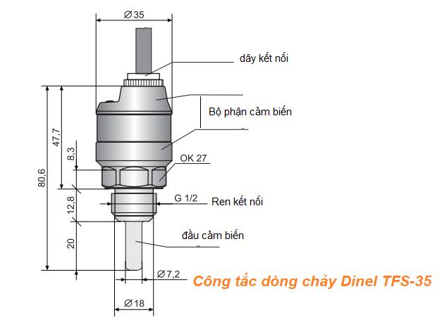 Công tắc dòng chảy Dinel TFS-35