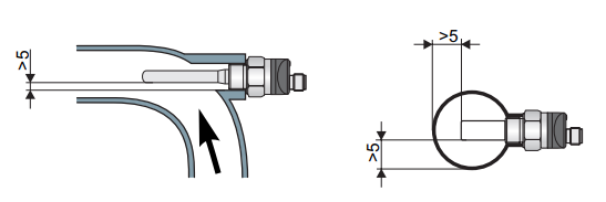 Cách lắp đặt cảm biến trong ống nối