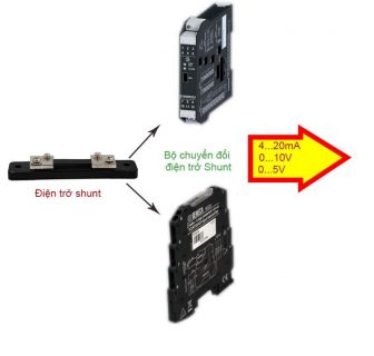 Bộ chuyển đổi điện trở shunt ra 4-20mA