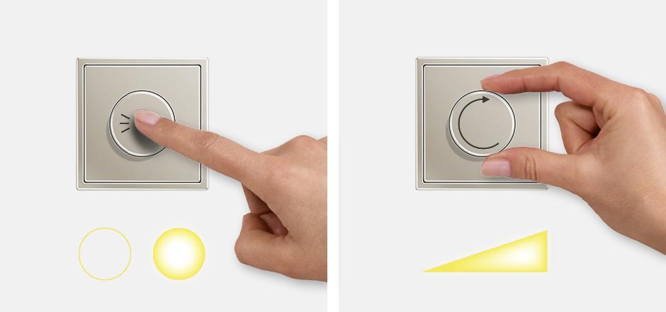 Biến trở dùng để điều khiển độ sáng của đèn