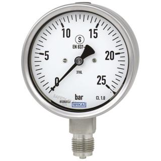 đồng hồ đo áp suất thường bourdon Wika