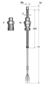 Cảm biến đo nhiệt độ Pt100 dạng đầu ruồi