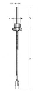 Cảm biến nhiệt độ Pt100 dạng dây có ren