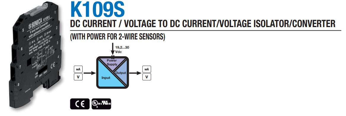 Bộ chuyển đổi và cách ly tín hiệu Seneca K109S