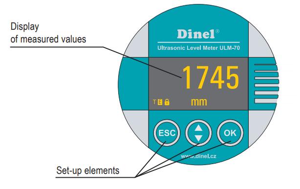 Màn hình cảm biến siêu âm đo mức nước