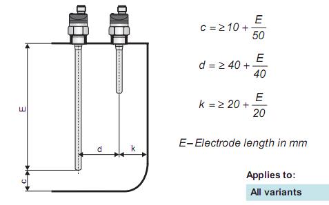 cảm biến điện dung đo mức nước Dinel CLS-23N