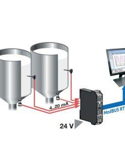 Bộ chuyển đổi tín hiệu modbus 4 kênh Seneca Z-4AI