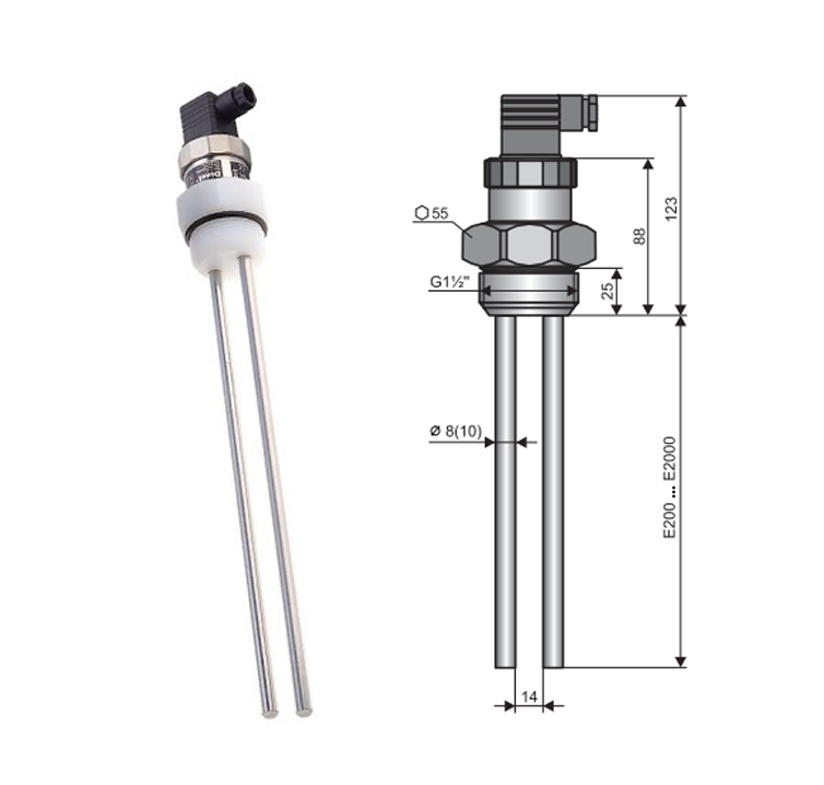 Cảm biến đo mức axit Dinel CLM-36N-40