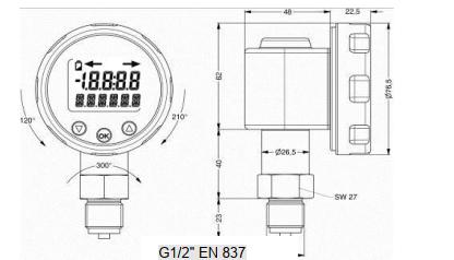 đồng hồ áp suất điện