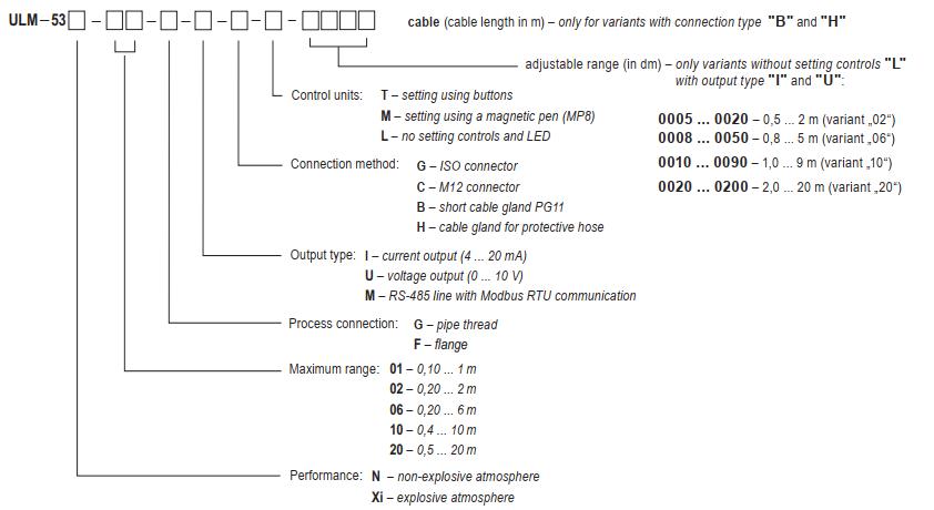 Chọn code cảm biến siêu âm không hiển thị Dinel ULM-53