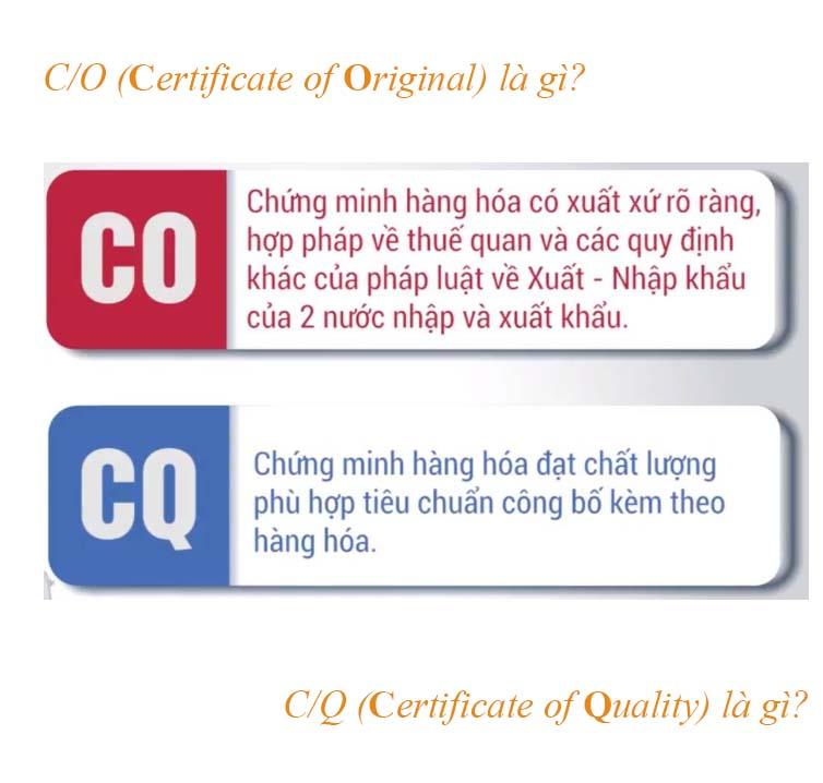 CO là gì CQ là gì