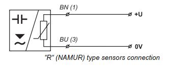 Cách đấu dây cảm biến báo mức output NAMUR