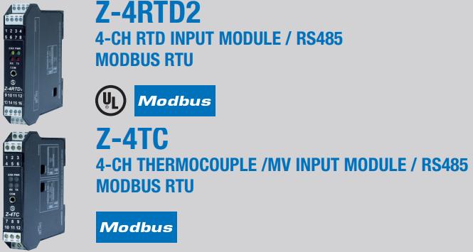 Bộ chuyển đổi cảm biến nhiệt độ ra ModBUS RTU